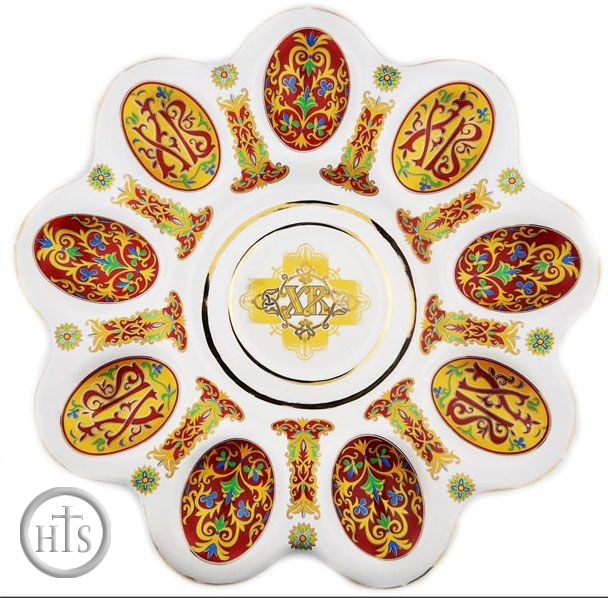 Product Photo - Porcelain Table Plate Pascha (Easter), 10 1/4