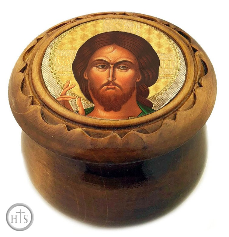 HolyTrinityStore Photo - Rosary Keepsake Holder Box with Icon of The Christ