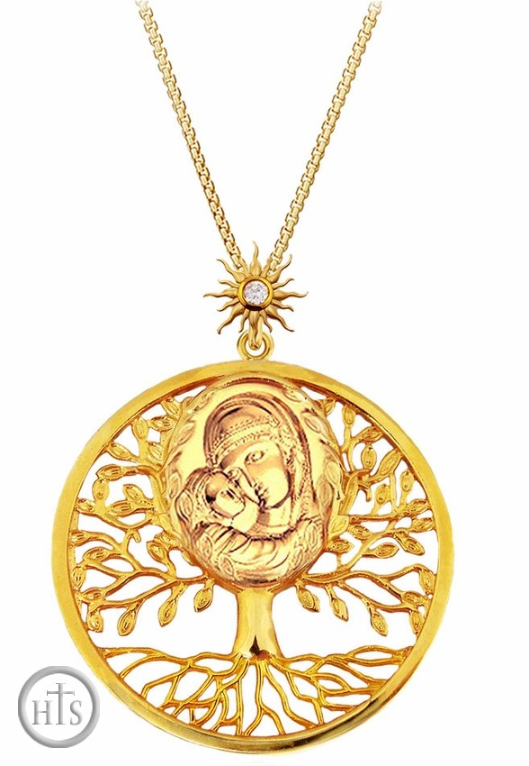 HolyTrinityStore Photo - Silver, Gold Plated  Pendant